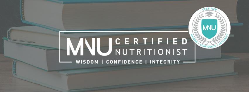 MNU Certified Nutritionist